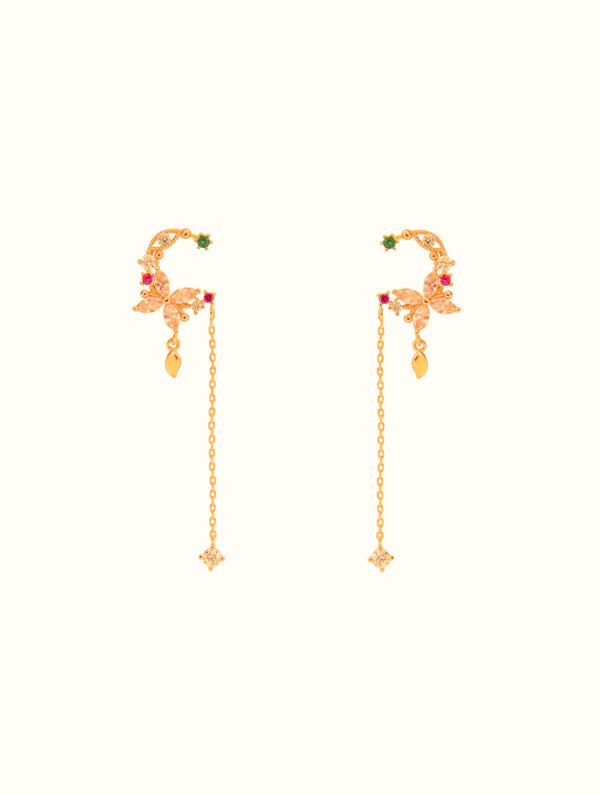 Charlotte Jeweled Crescent Studs