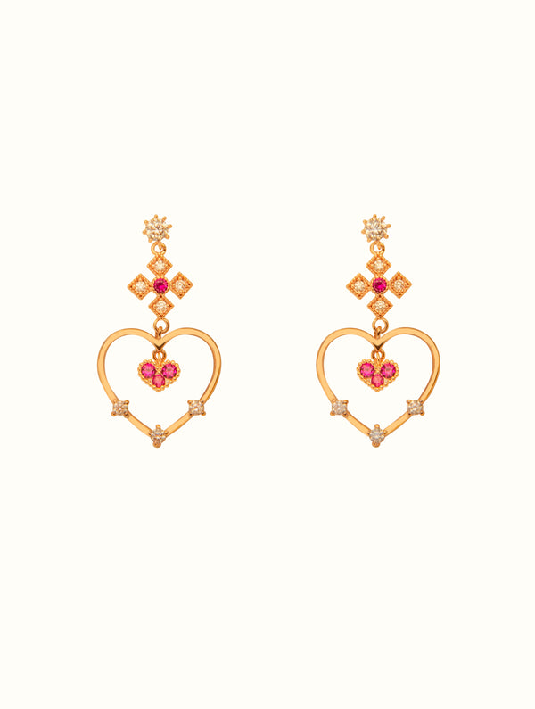 Khloe Royal Heart Studs