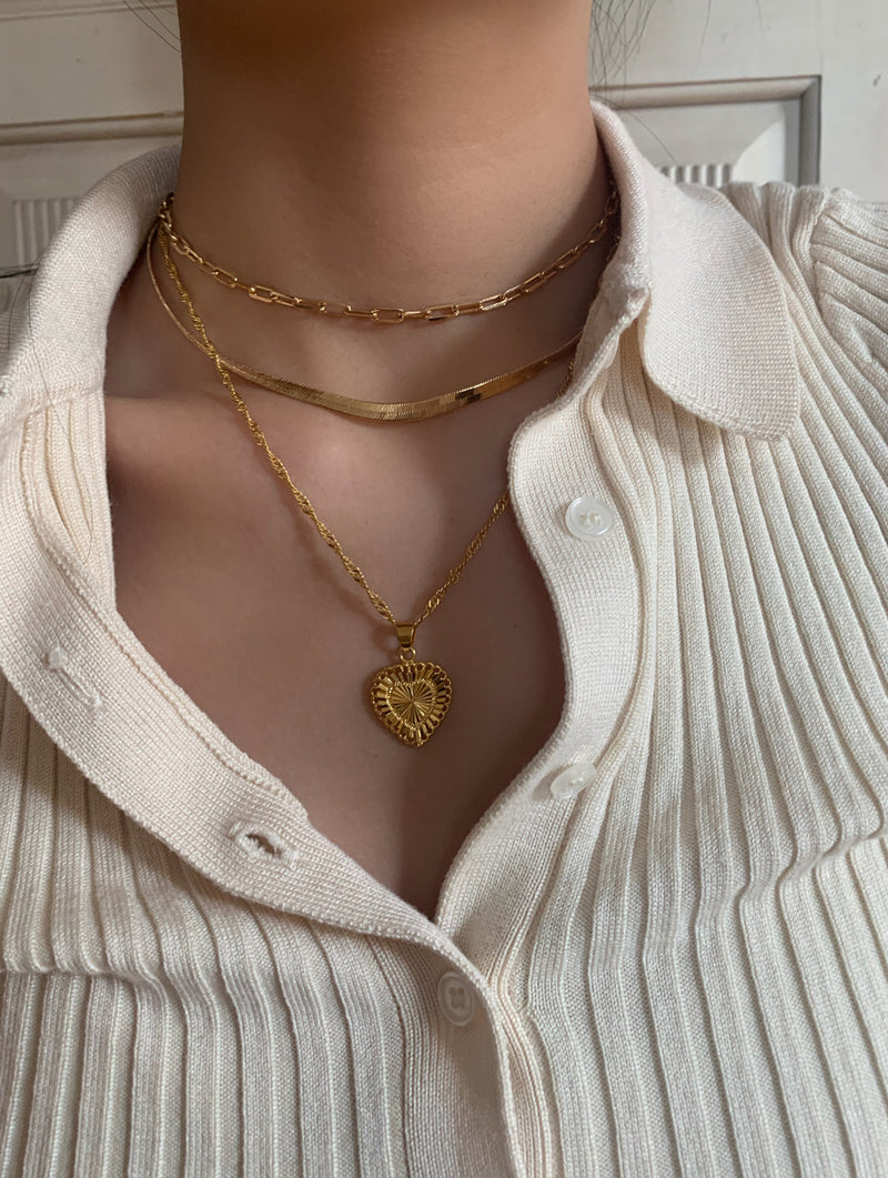 Gold Filled Lovers Heart Necklace