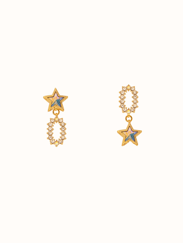 Mismatched Star Studs