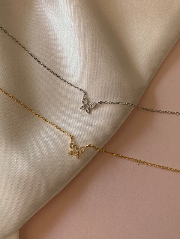 18K Gold Dipped Teeny Tiny Butterfly Necklace