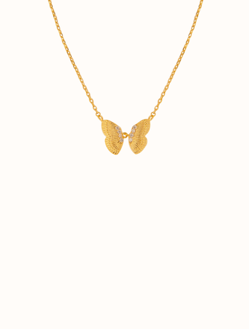 18K Gold Dipped Tiny Butterfly Necklace