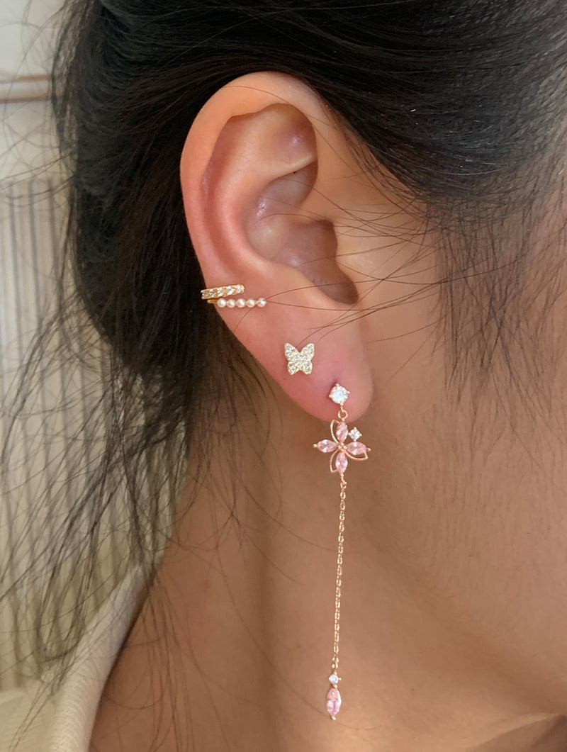 Rosegold Butterfly Studs