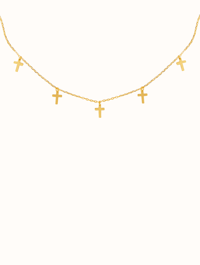 18K Gold Dipped Tiny Cross Necklace