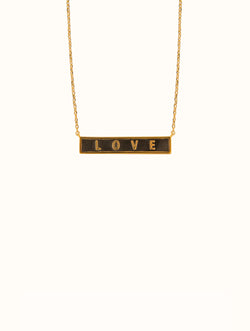 18K Gold Dipped Love Bar Necklace