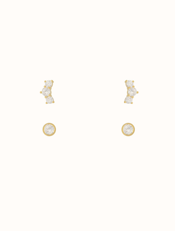 Sterling Silver Tiny Stud Set (FM)