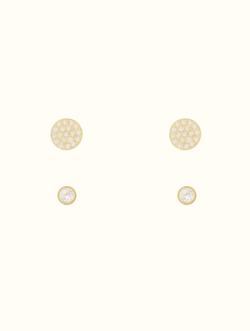 Sterling Silver Teeny Circle Stud Set (C)