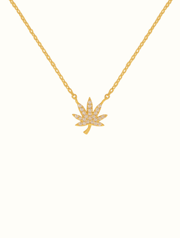 Tiny Diamond Mary Jane Necklace