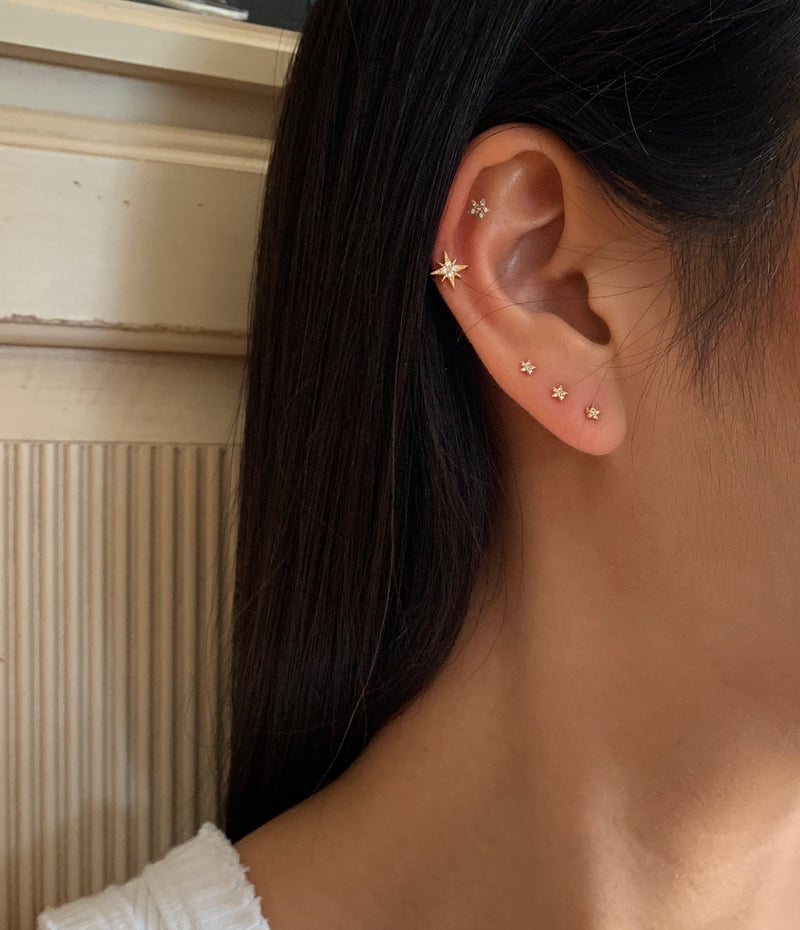 Sterling Silver Gold Stardust Ear Cuff