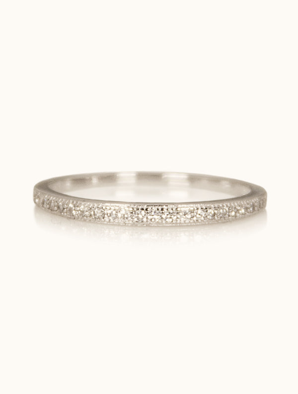 Harper Sterling Silver Skinny Band Diamond Ring