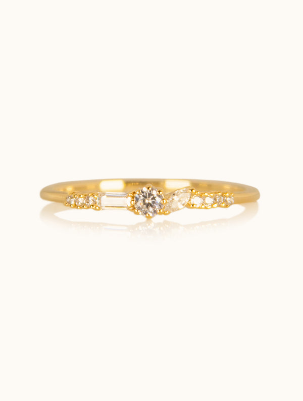 Crystal Thin Band Ring