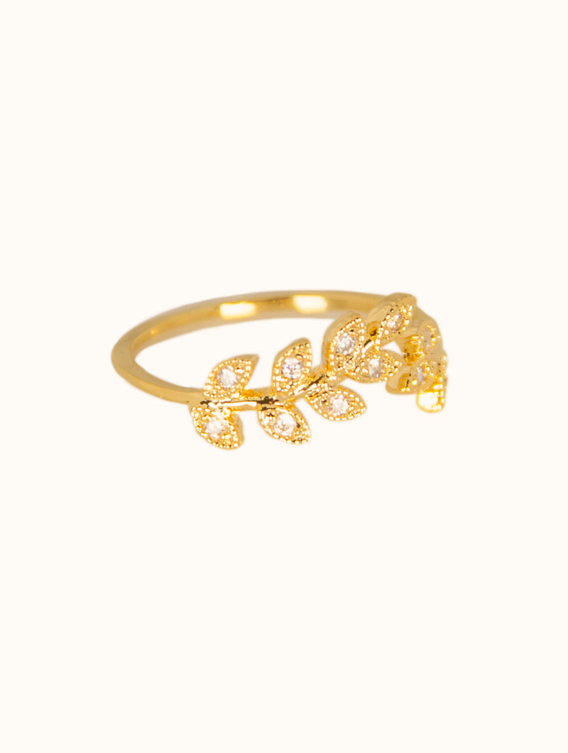 Rebecca Stone Encrusted Gold Ring
