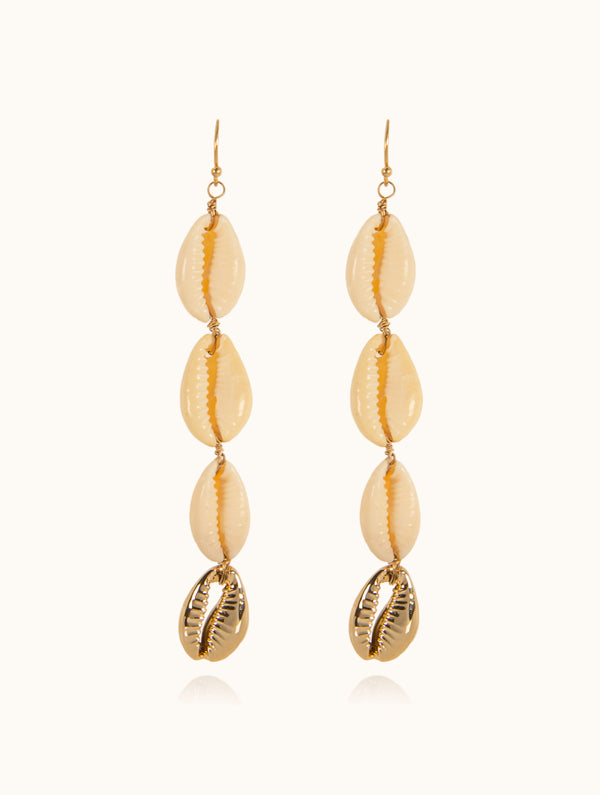 Roxy Cowrie Shell Earrings