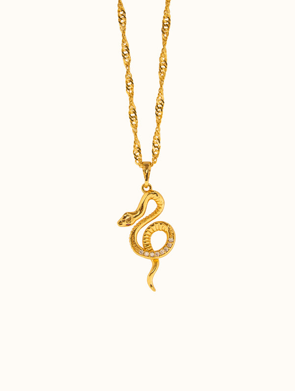 18K Gold Filled Snake Necklace