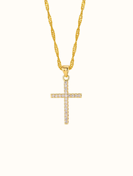 18K Gold Filled Cross Necklace