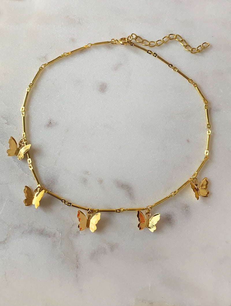 Gold Butterfly Choker