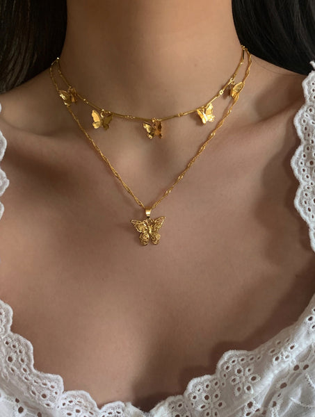 Gold Butterly Choker