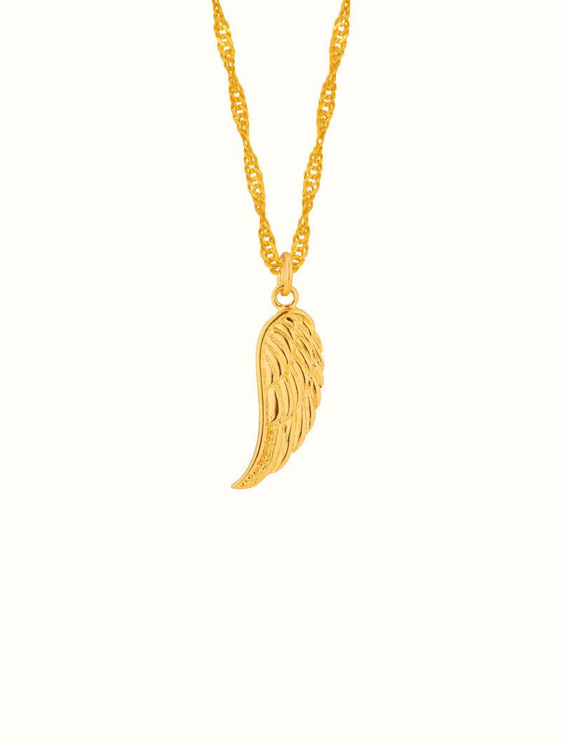 Gold Filled Angel Wing Necklace