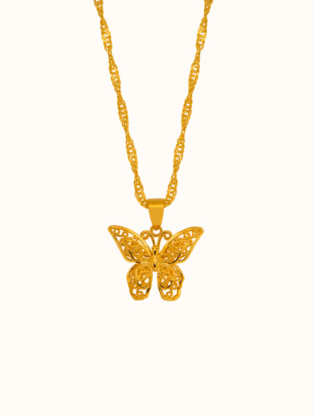 18K Gold Filled Sophie Gold Butterfly Necklace