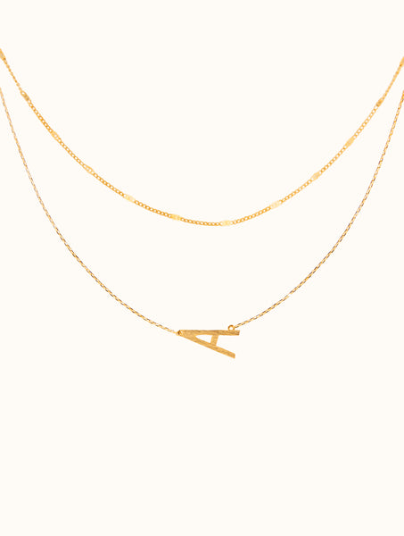 Personalized Initial Double Layered Necklace