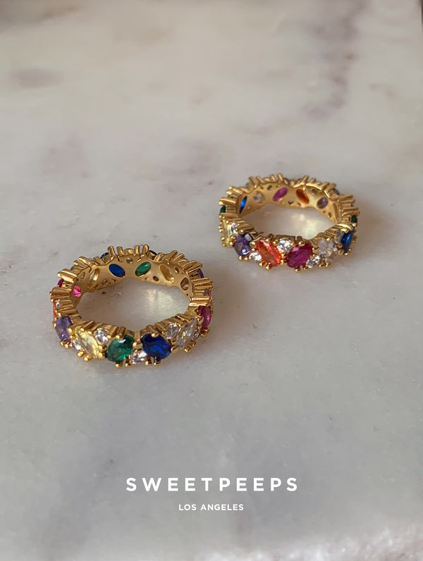 Rainbow Baguette Ring (RB)