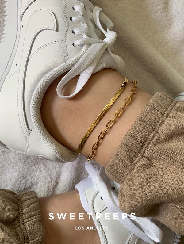 Rolo Link Anklet (A)