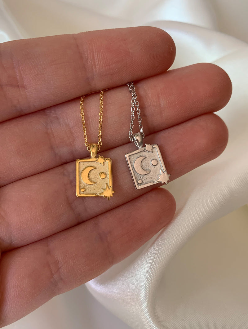 18K Gold Dipped Magic Card Necklace