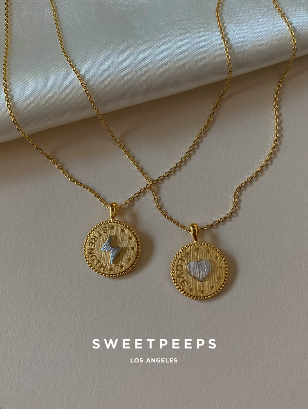 Love Coin Pendant Necklace