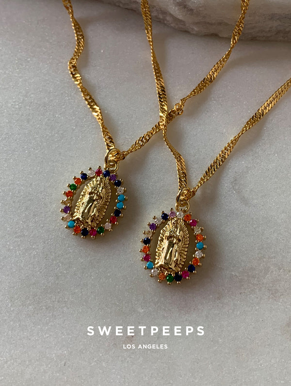 Colorful Saint Mary Necklace