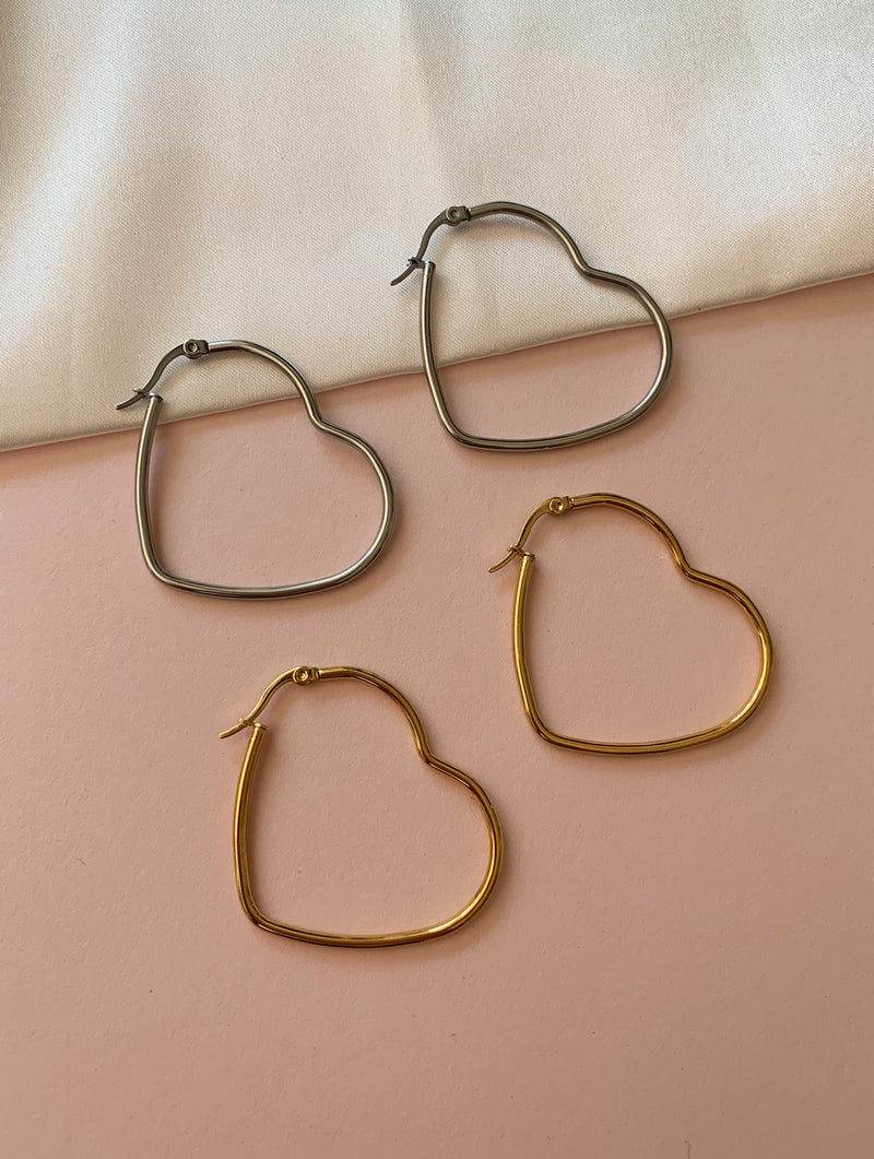 Large Heart Hoops