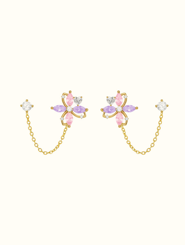 Kendall Pastel Chain Studs