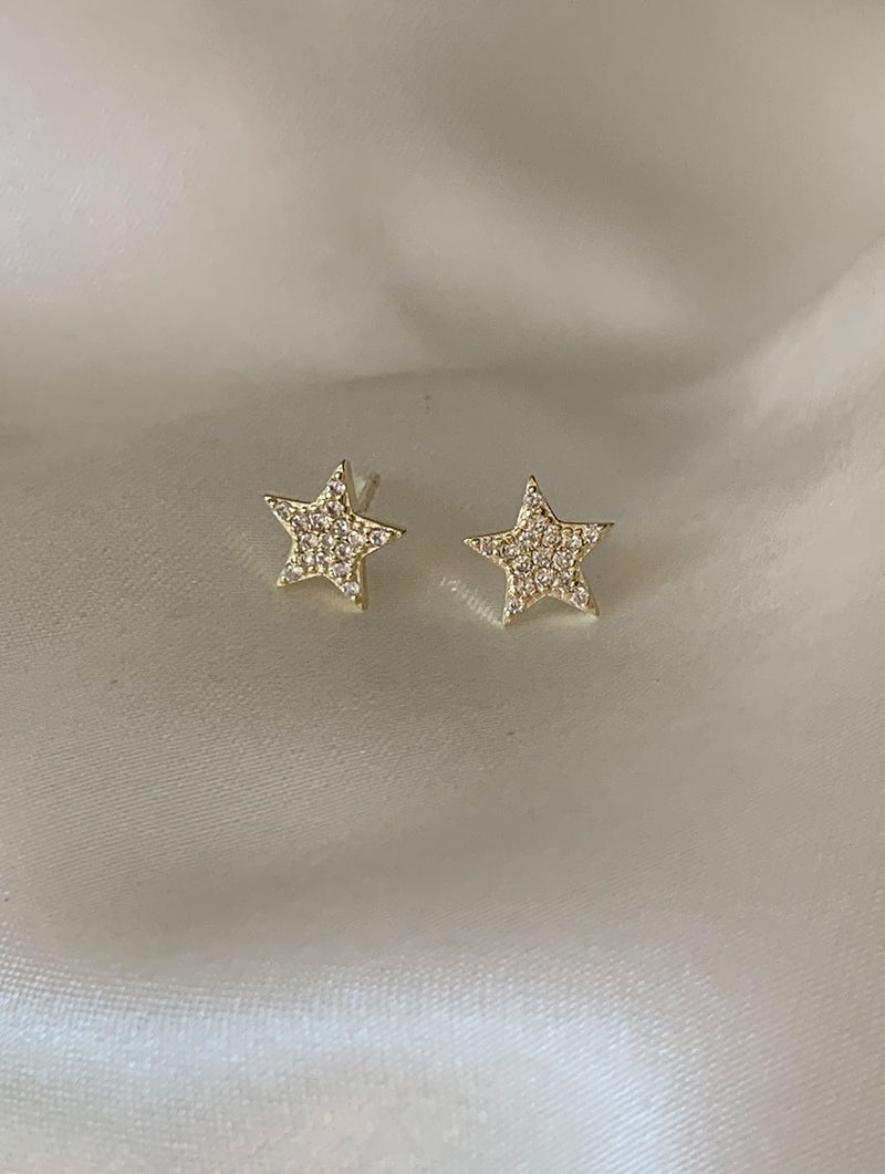 Sterling Silver Tiny Star Studs