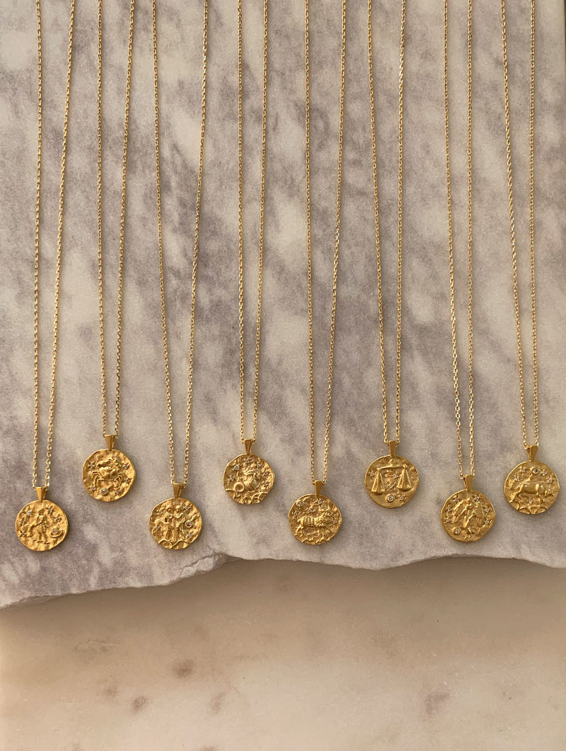 Coin Horoscope Necklace