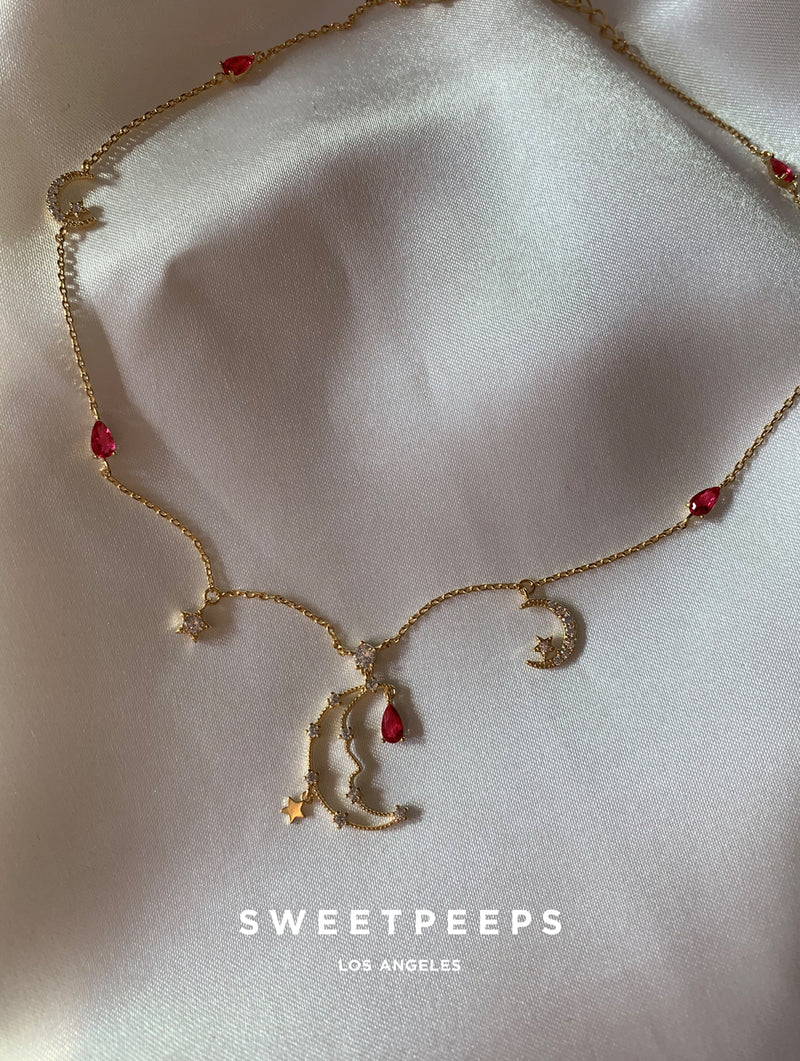 Jewel Crescent Choker