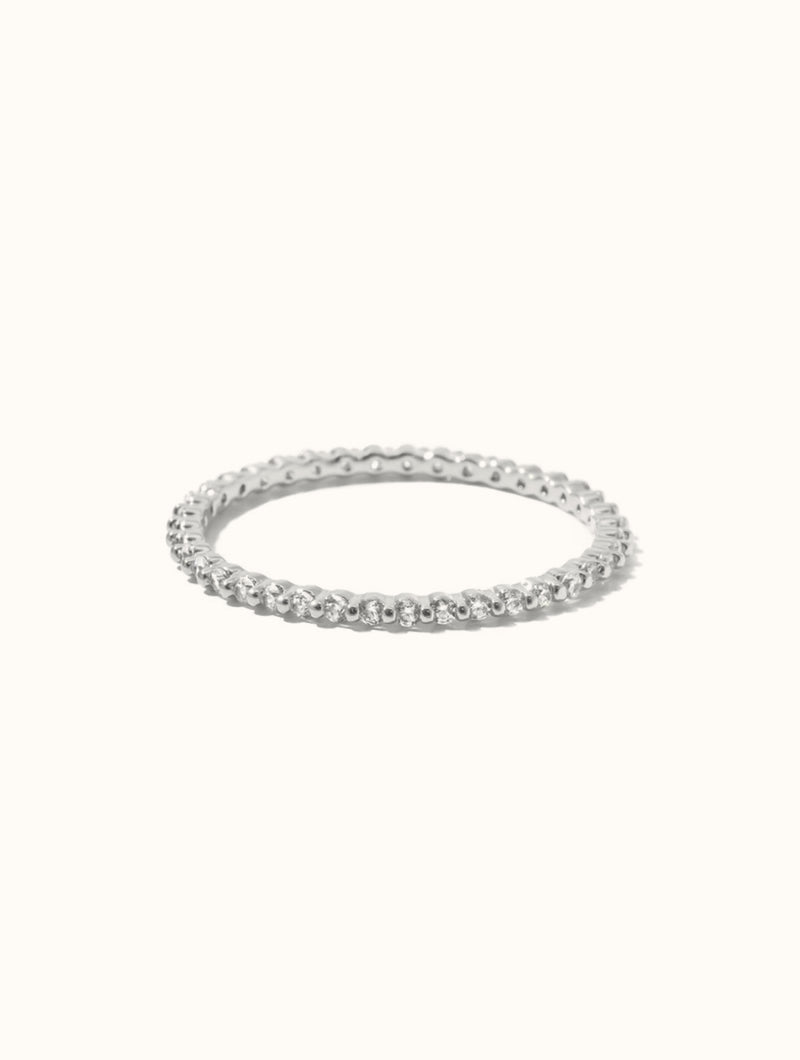 Super Thin Diamond Band Ring