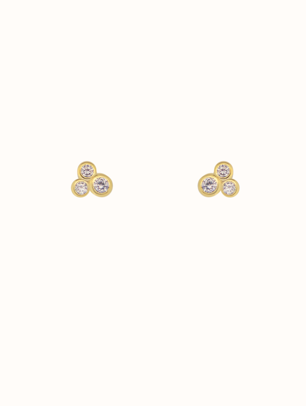 Sterling Silver Diamond Cluster Stud