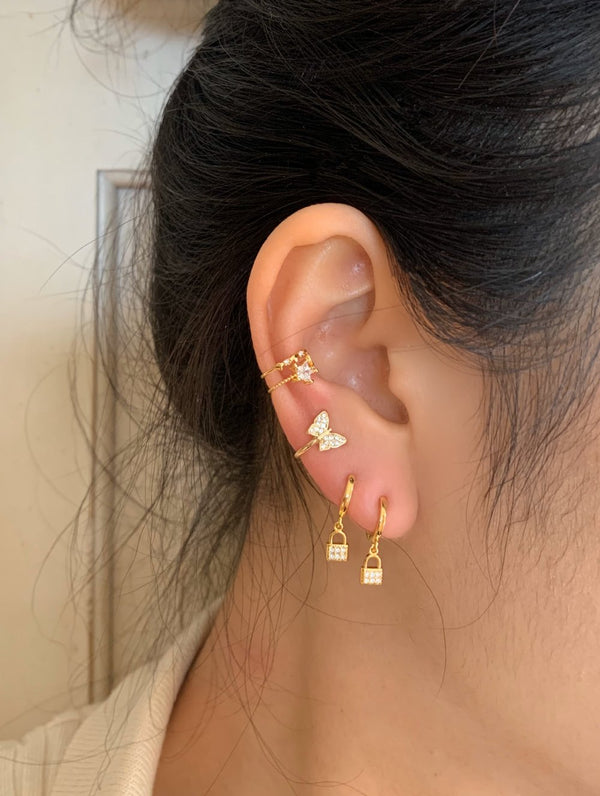 Gold Dipped Tiny Lock Hoops