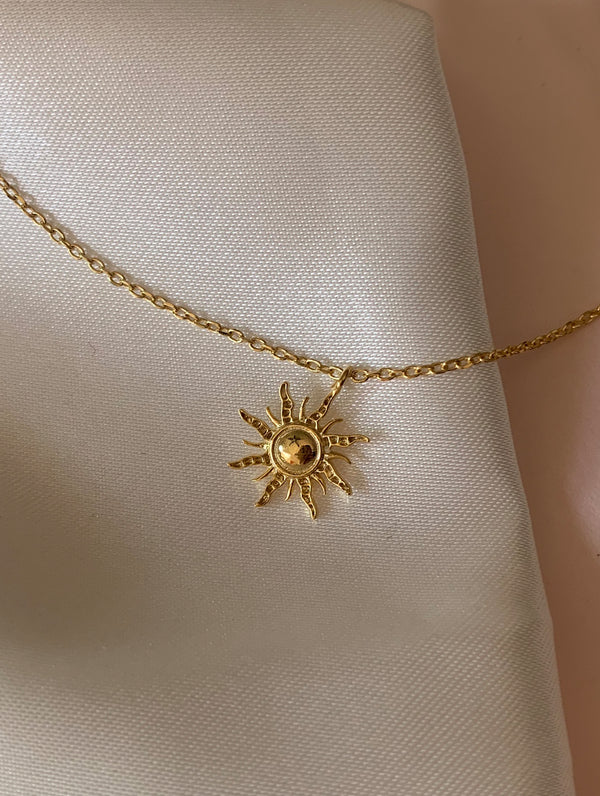 18K Gold Dipped Sun Necklace