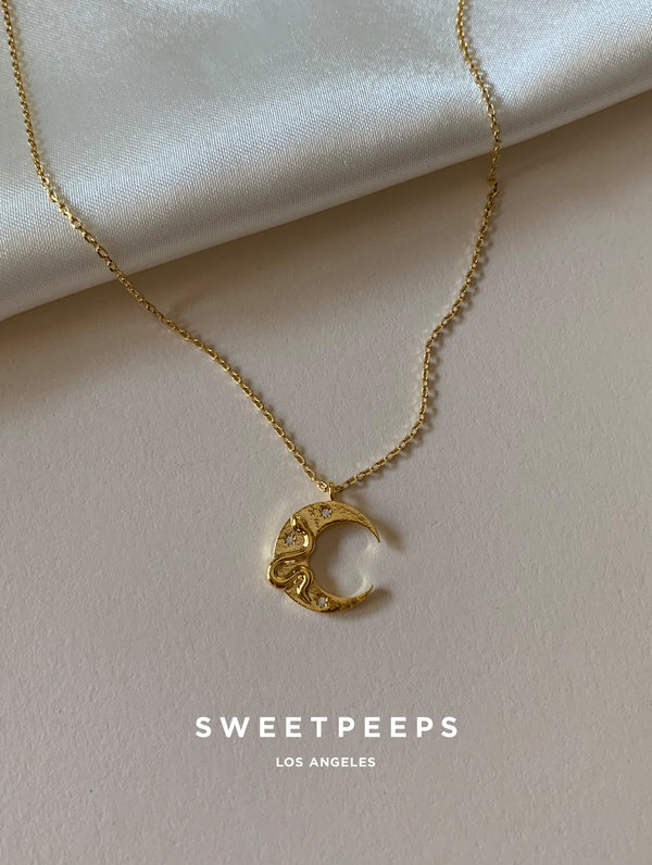 Snake Crescent Necklace