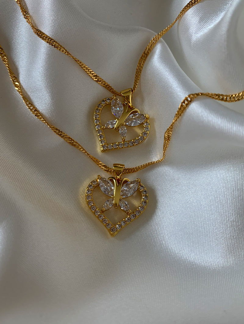 Butterfly Heart Necklace (BH)