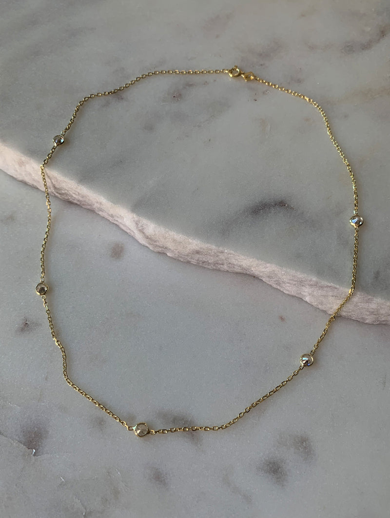Sterling Silver Diamond Choker