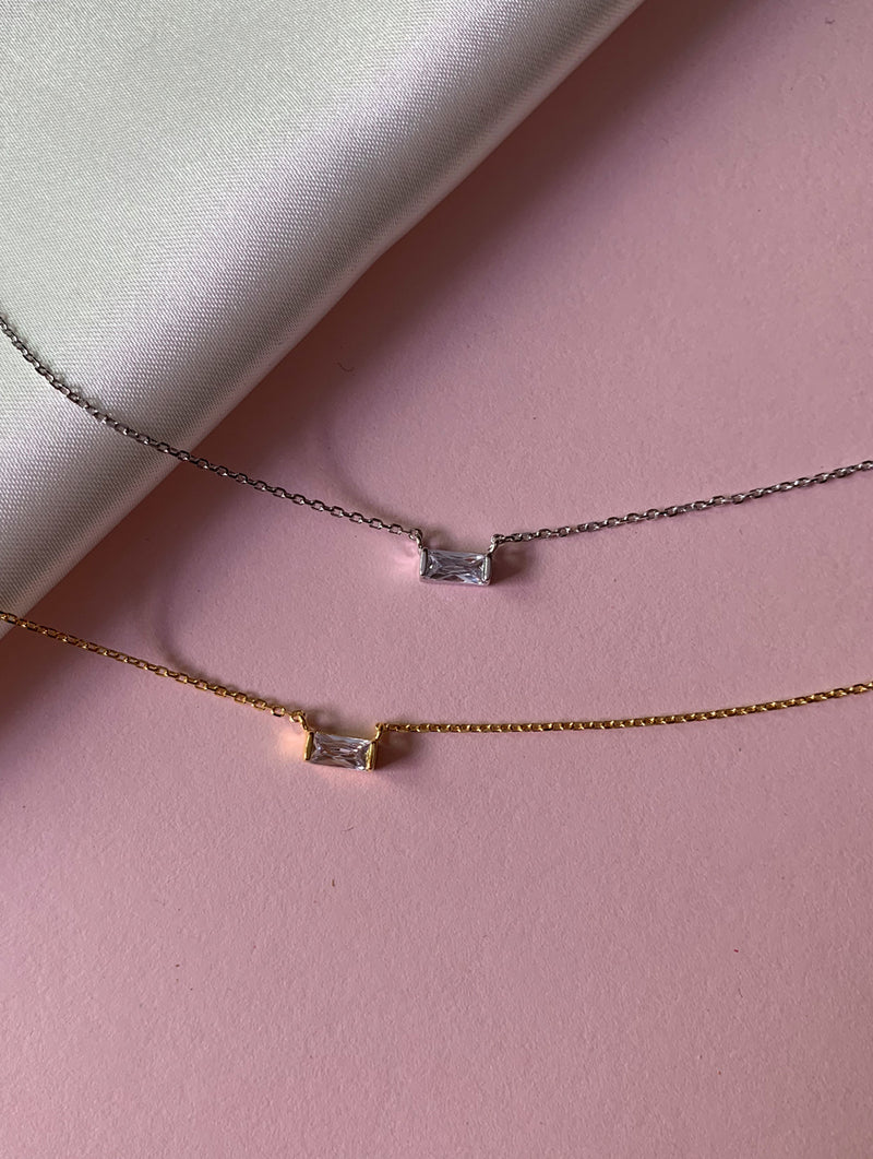 Rectangle 18K Gold Dipped Necklace
