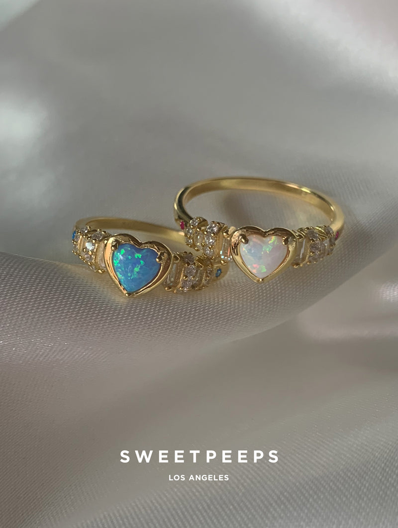 Stella Opal Heart Ring