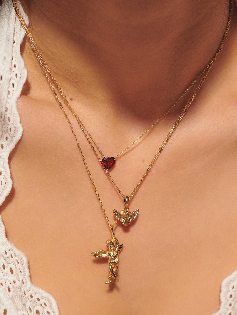 Tiny Baby Angel Necklace