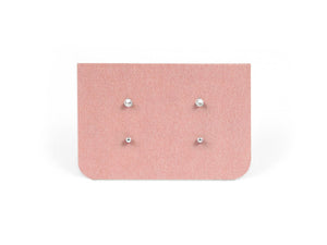 Dainty Tiny Pearl & Dot Earrings Set