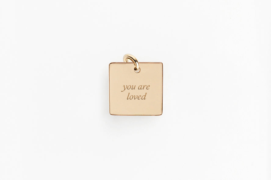 Speak Your Mind Square Message Charm Necklace
