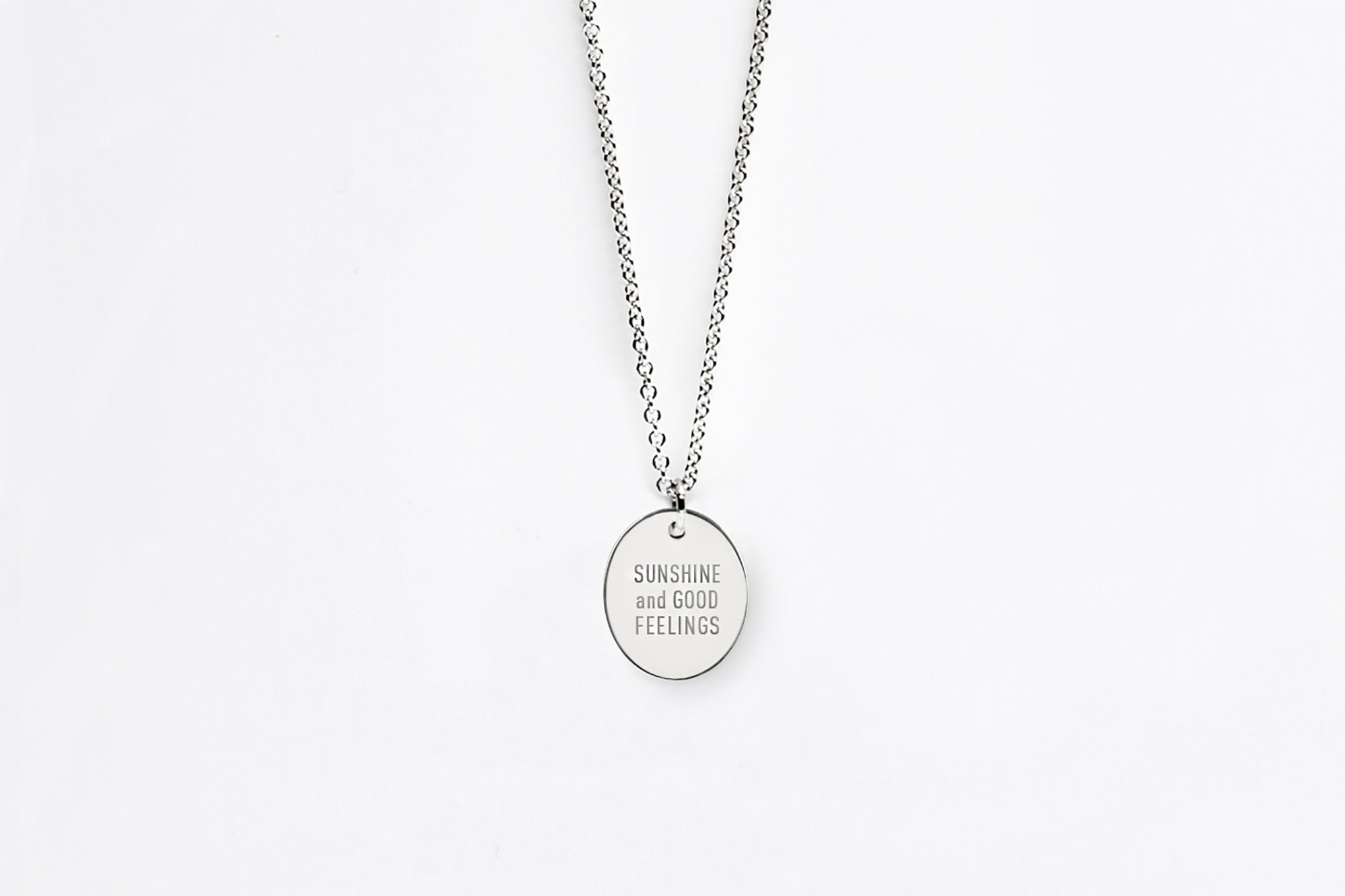 Speak Your Mind Oval Message Charm Necklace