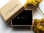 Cool Gifts 14k Rose Gold Diamond Micro Stud Trio