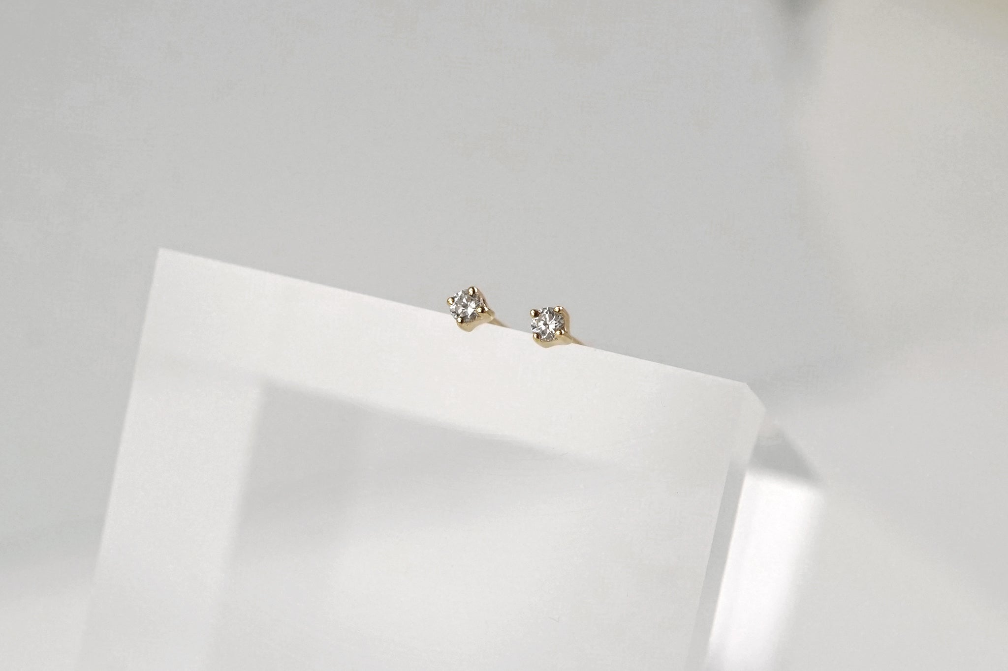 Mini Diamond Stud Earrings