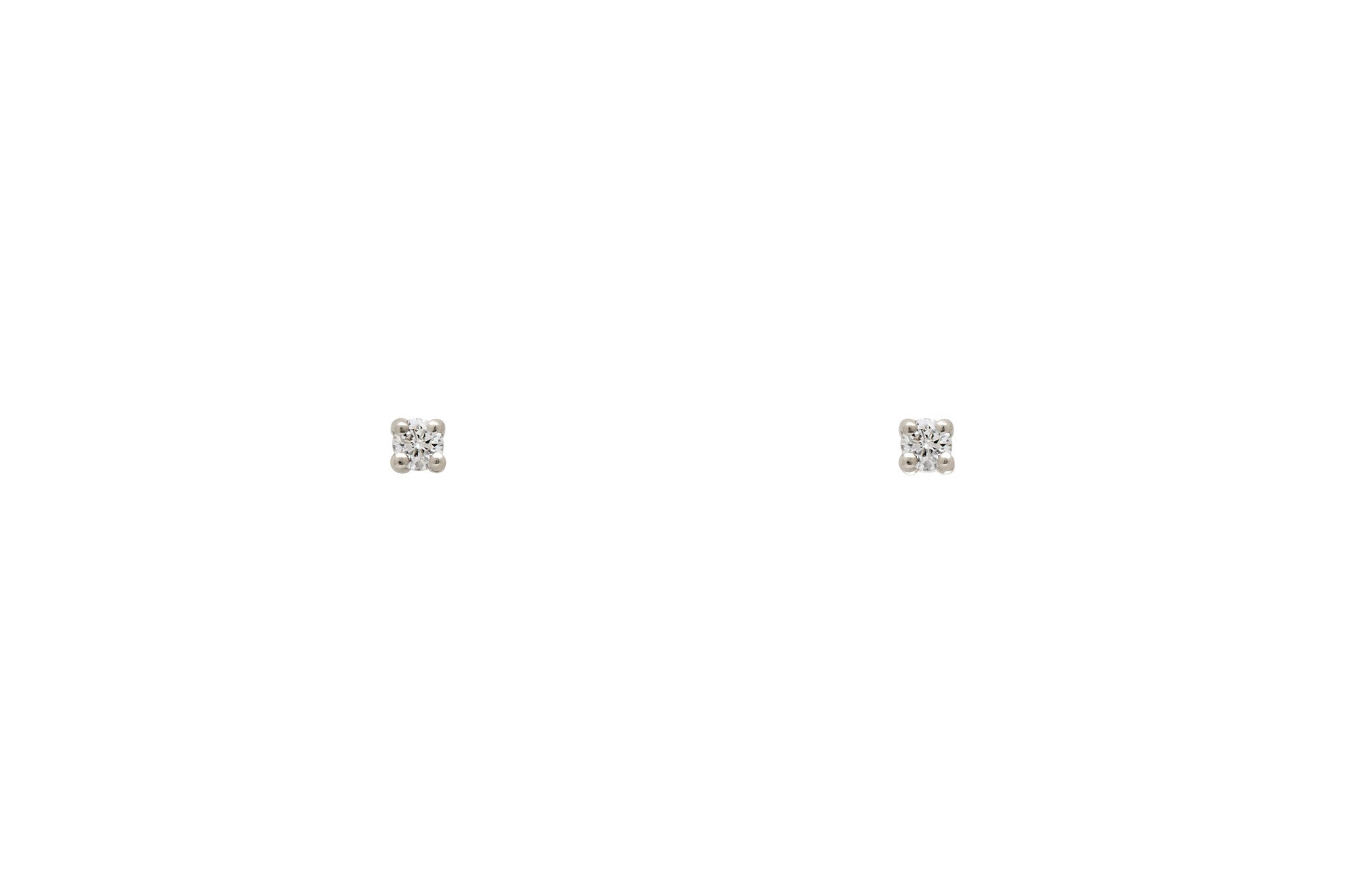 Platinum White Diamond Stud Earrings